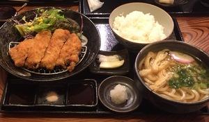 釜新黒豚ロースカツ定食