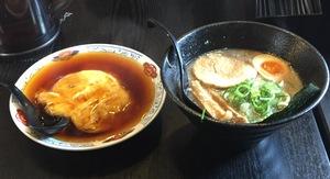 黒丸ラーメン半天津飯セット